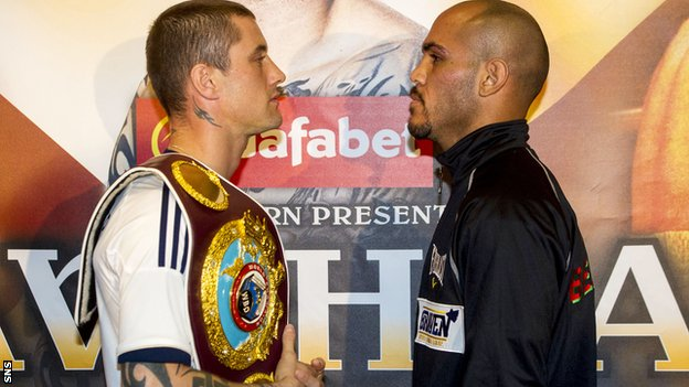 Ricky Burns and Raymundo Beltran