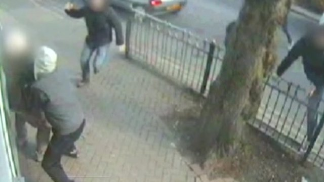 Robber tackled by police