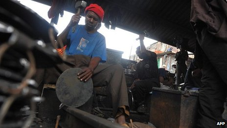 A Kenyan blacksmith