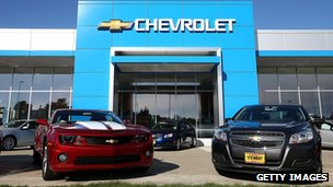 Chevrolet showroom in the US