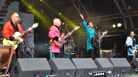 Showaddywaddy performing at Summer Sundae Weekender 2011