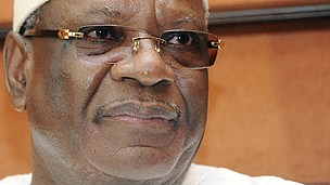 Malian president Ibrahim Boubacar Keita