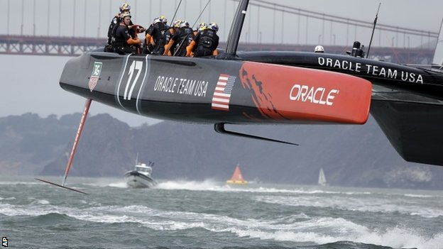 America's Oracle boat