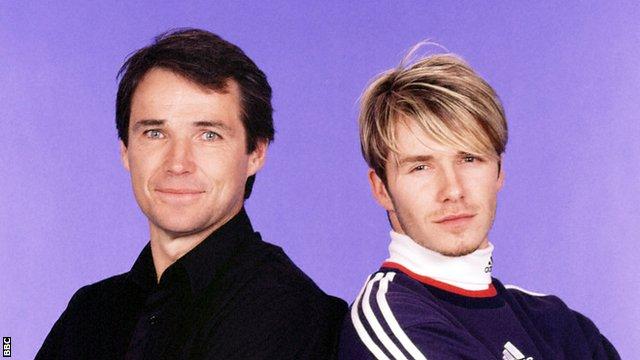 Alan Hansen with David Beckham
