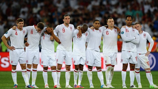 England squad at Euro 2012