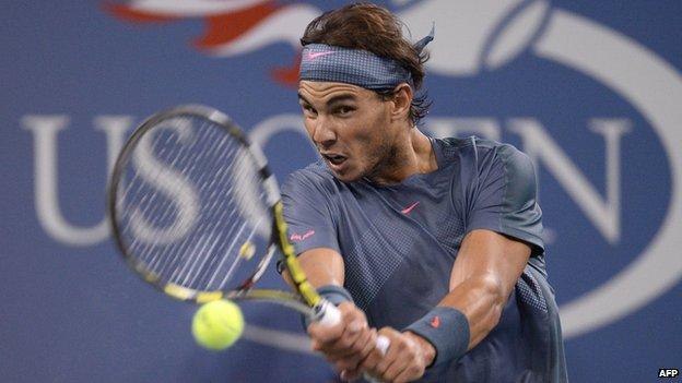 Rafal Nadal in US Open Quarter Final
