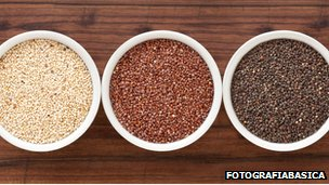 Three types of quinoa