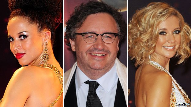 Natalie Gumede, Mark Benton and Rachel Riley