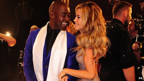 Patrick Robinson and Abbey Clancy on the Strictly red carpet this week