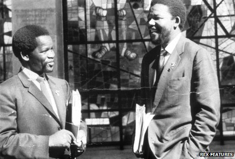 Nelson Mandela and his law partner Oliver Tambo in Addis Ababa 1962