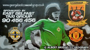 George Best mural before it was painted over