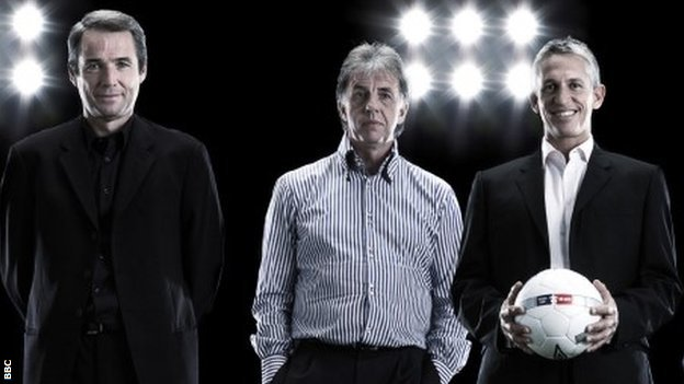 Alan Hansen, Mark Lawrenson and Gary Lineker