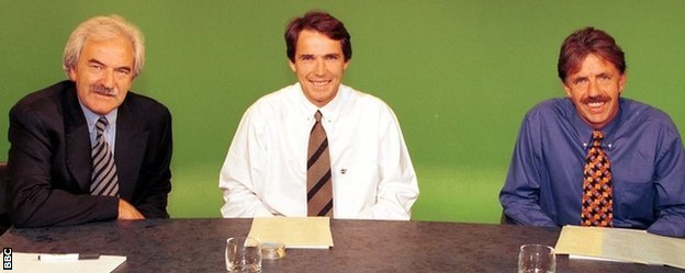 Lawro joined Hansen and Des Lynam on MOTD in 1997