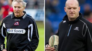 Edinburgh's Alan Solomons and Glasgow head coach Gregor Townsend