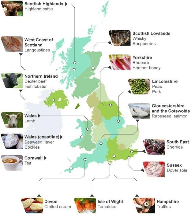 James Martin's food map