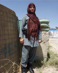 Afghan policewoman Parigul Saraj