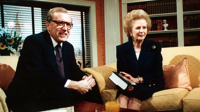 Sir David Frost and Margaret Thatcher