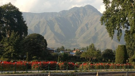 Shalimar Gardens in Indian-administered Kashmir
