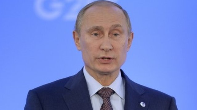Mr Putin said a one-on-one meeting with Mr Obama had not changed his position on Syria