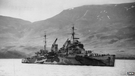 HMS Trinidad at Hvalfjord, Iceland. Picture: Imperial War Museum
