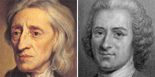 John Locke and Jean Rousseau