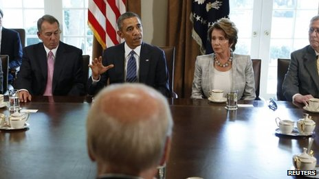 Leading US political figures meet at the White House to discuss Syria (3 September 2013)