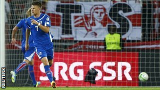 Johann Gudmundsson scored a hat-trick for Iceland