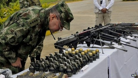 Seized Farc weapons, 21 July 2013