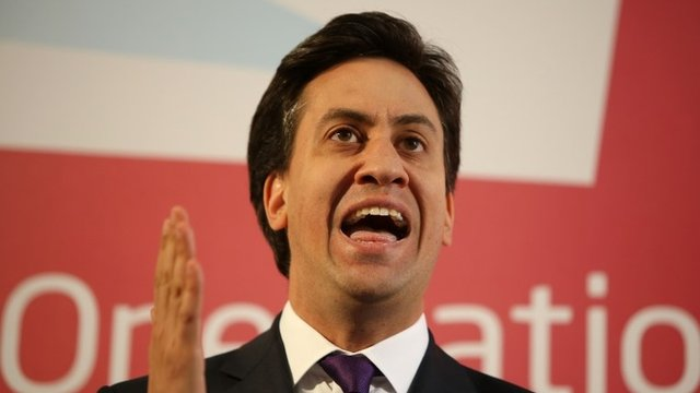 Ed Miliband during his speech on reforming Labour's links with unions