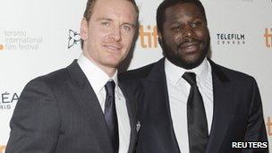 Michael Fassbender, left, and Steve McQueen, right