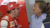 Fernando Alonso talks with Ferrari President Luca Cordero di Montezemolo