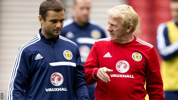 Shaun Maloney and Gordon Strachan
