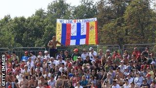 Fans in Italy