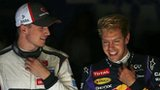 Sebastian Vettel (right) and Nico Hulkenberg