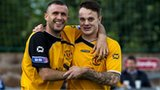Annan players celebrating