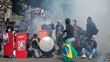Brazil protests in Rio de Janeiro
