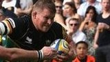 Dylan Hartley scores against Exeter Chiefs