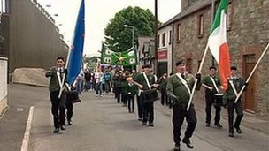 The republican parade in Castlederg