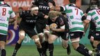 Duncan Jones finds a way through the Treviso defence as Ospreys win 24-19 at Stadio Monigo in the Pro12