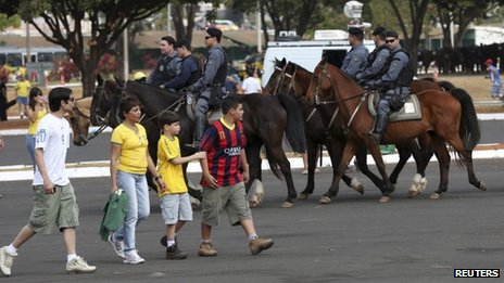 Police presence in Brasilia