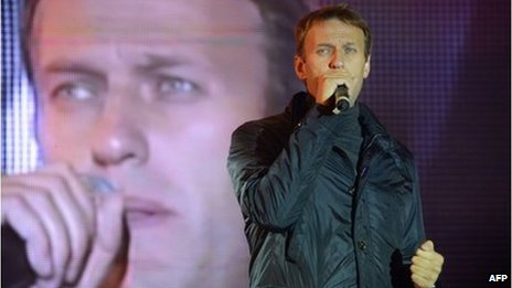 Alexei Navalny at the final rally of his campaign in Moscow, 6 September