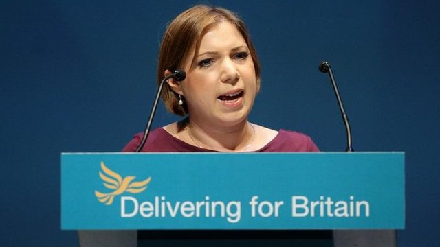 Sarah Teather during her speech at the Liberal Democrat conference in 2010