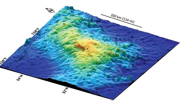 The Tamu massif is comparable in size to Olumpus Mons on Mars