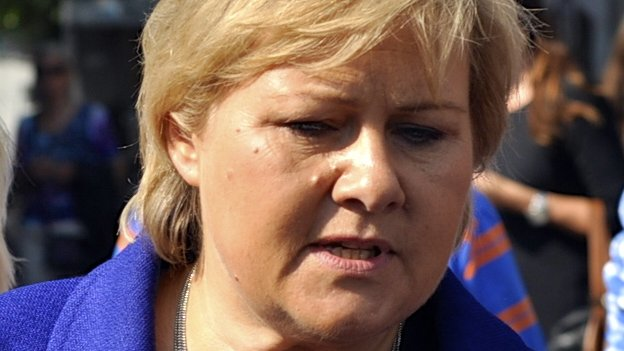 Erna Solberg, leader of Norway's centre-right Conservative party, 8 September 2013.