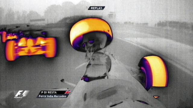 Paul Di Resta crashes out on the first lap