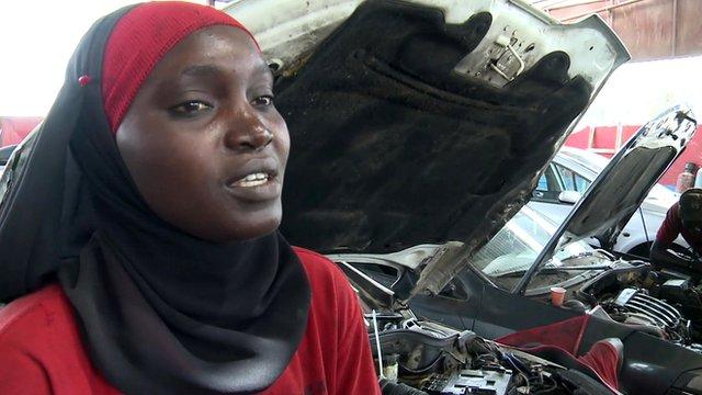 Amina, ''Women Auto'' mechanic in Dakar