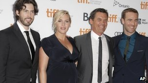 Jason Reitman, Kate Winslet, Josh Brolin and James Van Der Beek