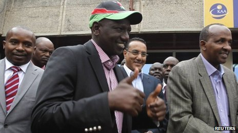 William Ruto in Nairobi on 9 September 2013