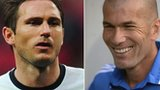 Frank Lampard and Zinedine Zidane