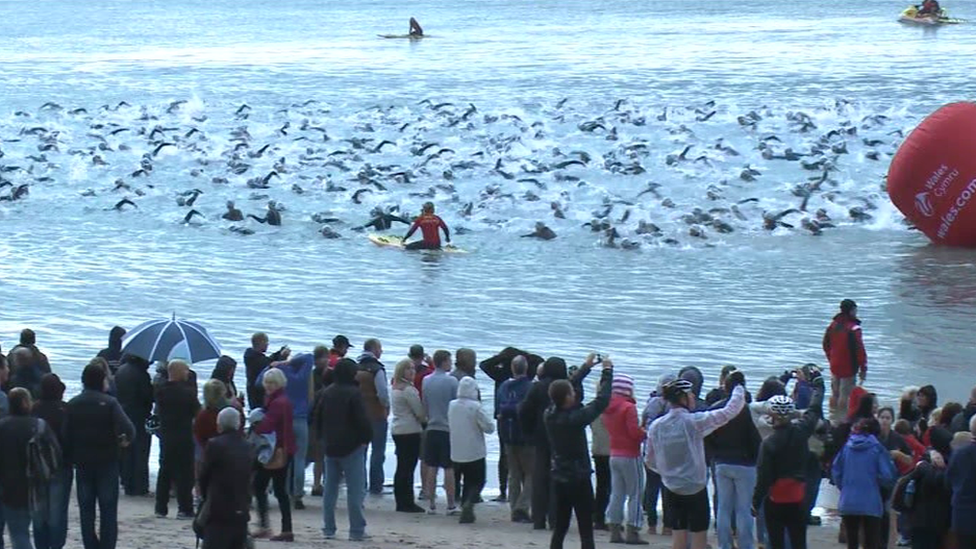 In Pictures Ironman Wales Tenby Bbc News